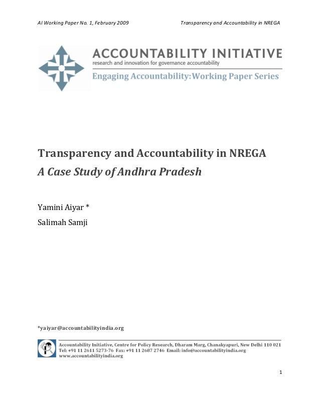 AIWorkingPaperNo.1,February2009TransparencyandAccountabilityinNREGA  ...