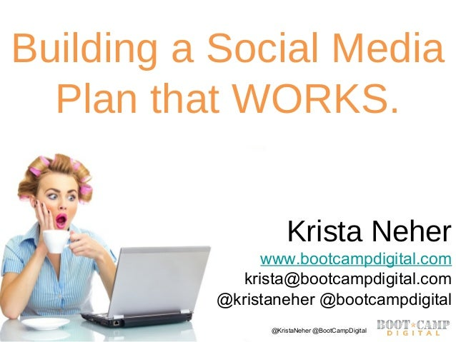 Copyright Boot Camp Digital 2013 - All Rights Reserved @KristaNeher @BootCampDigitalBuilding a Social MediaPlan that WORKS...