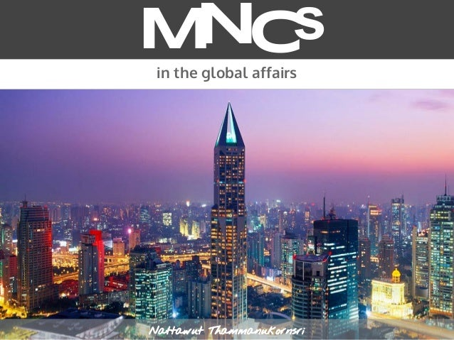 MNCs in the global affairs