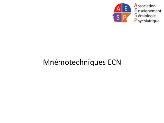 Mnémotechniques ECN