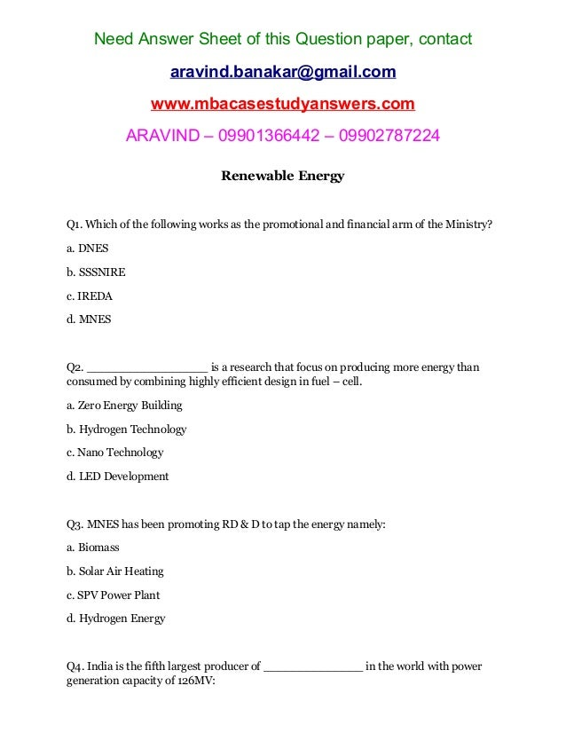 energy exam essay