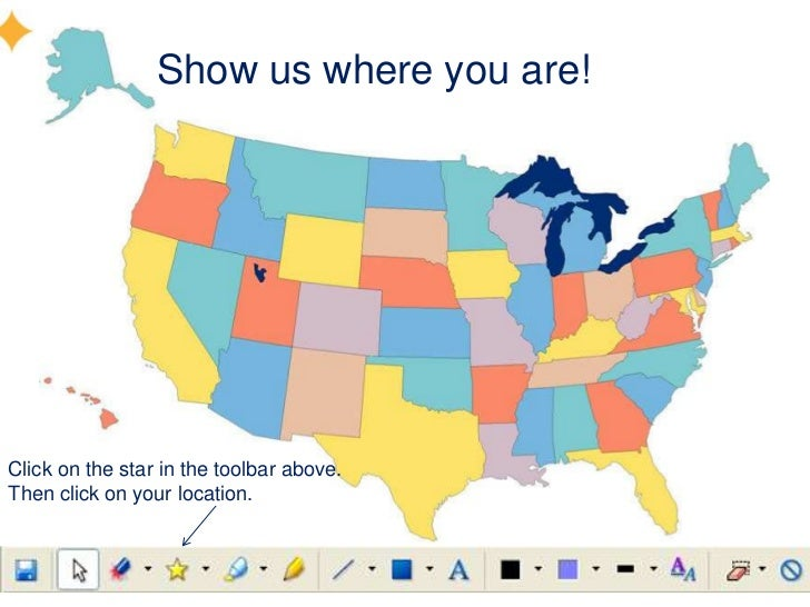 Show us where you are!Click on the star in the toolbar above.Then click on your location.