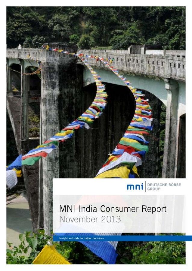 MNI India Consumer Report 2013-11