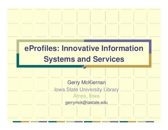 E profiles 1