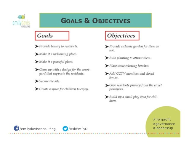Goals & Objectives for Nonprofits