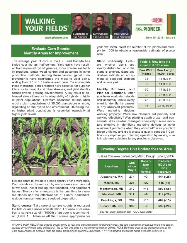 Western MN and eastern SD Walking Your Fields newsletter for June