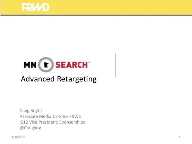 Advanced Retargeting - Craig Boyte