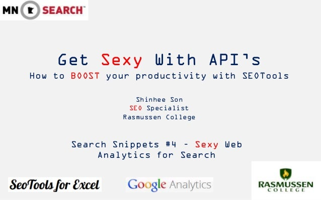 Get Sexy With API'sHow to BOOST your productivity with SEOTools                  Shinhee Son                SEO Specialist...