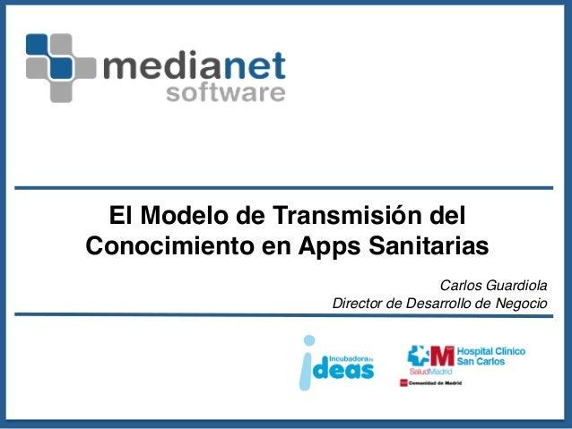 El Modelo de Transmisión delConocimiento en Apps Sanitarias!                                                   !          ...