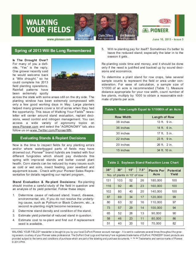 Central Minnesota's Walking Your Fields newsletter-June