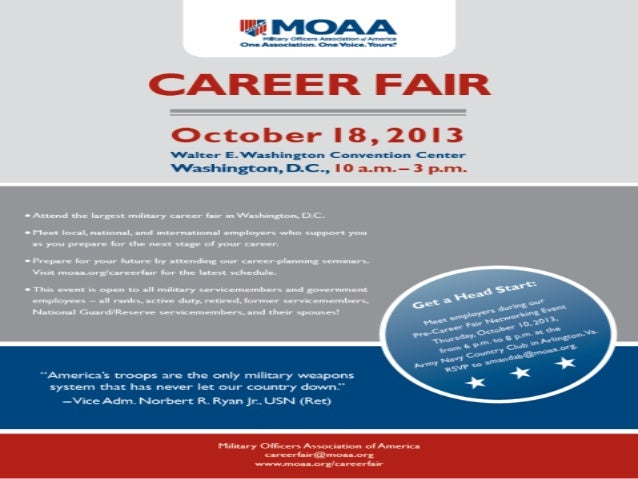 MOAA Career Fair, October 18, 2013