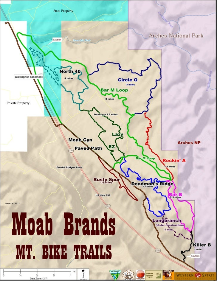 Moab brands trail Map June 2011