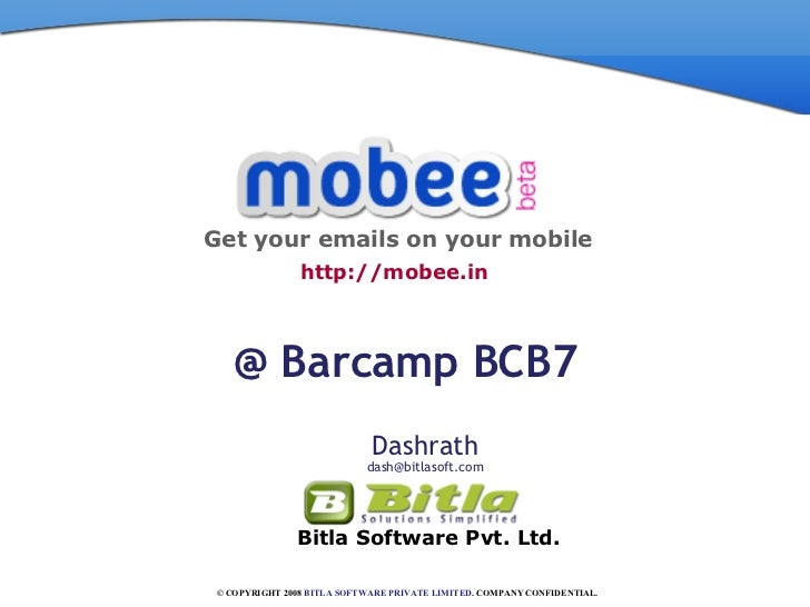 Mobee.in@Barcamp