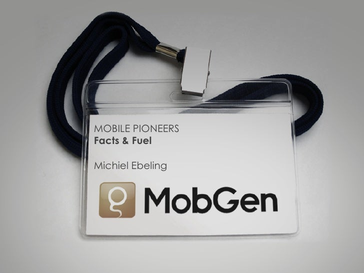 MOBILE PIONEERSFacts & FuelMichiel Ebeling