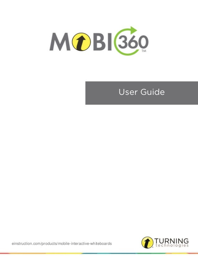 einstruction.com/products/mobile-interactive-whiteboards User Guide