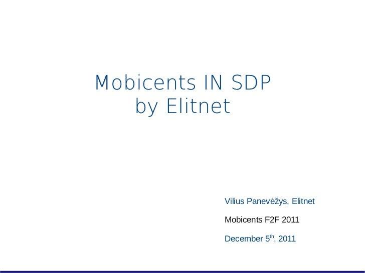 ElitNet presentation - Mobicents Summit 2011