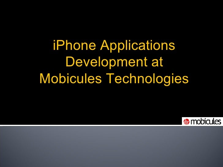 iPhone Applications Development at Mobicules Technologies