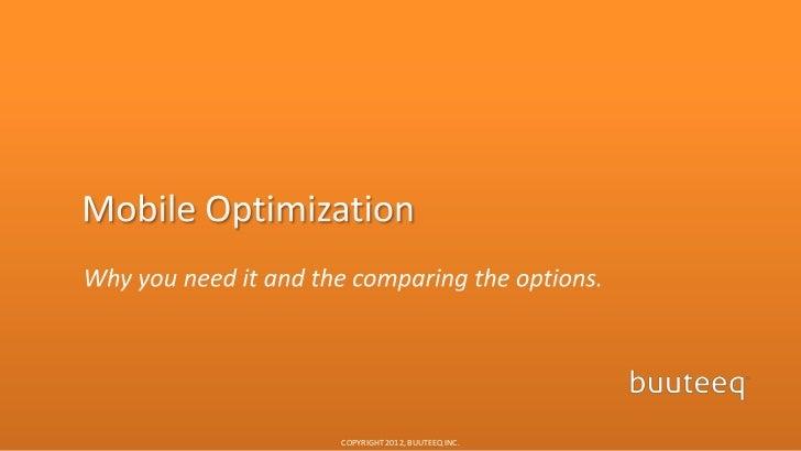 Mobile Optimization for Hotels