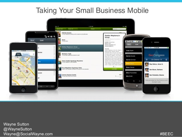 Taking Your Small Business Mobile - 101