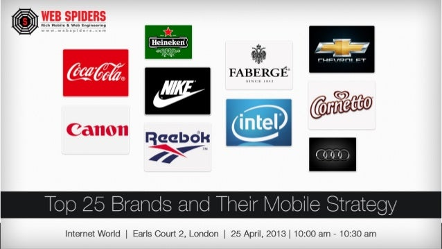 Top 25 brands and their mobile strategy, Web spiders