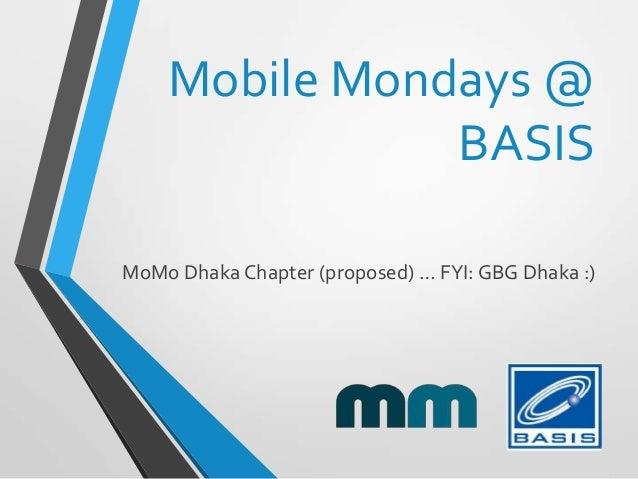 Mobile Mondays @ BASIS - welcoming GBG
