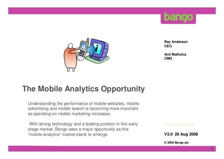Mobile Analytics Opportunity