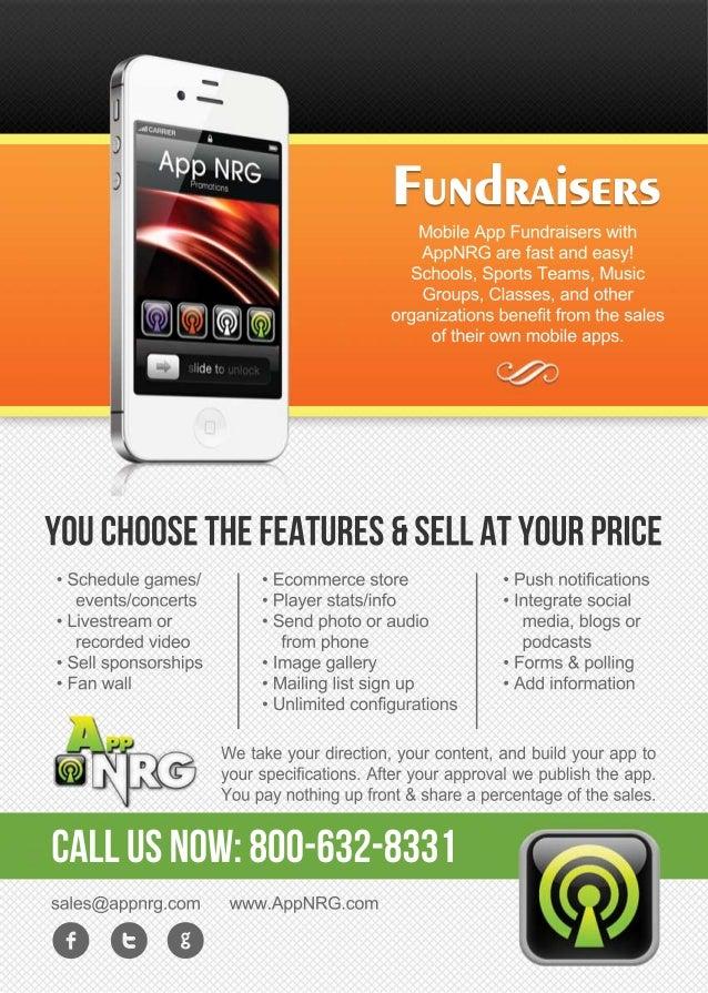 Mobile app-fundraiser-flyer-by-app nrg
