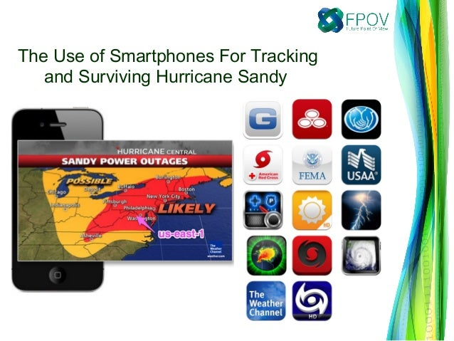 The Use of Smartphones For Tracking and Surviving Hurricane Sandy