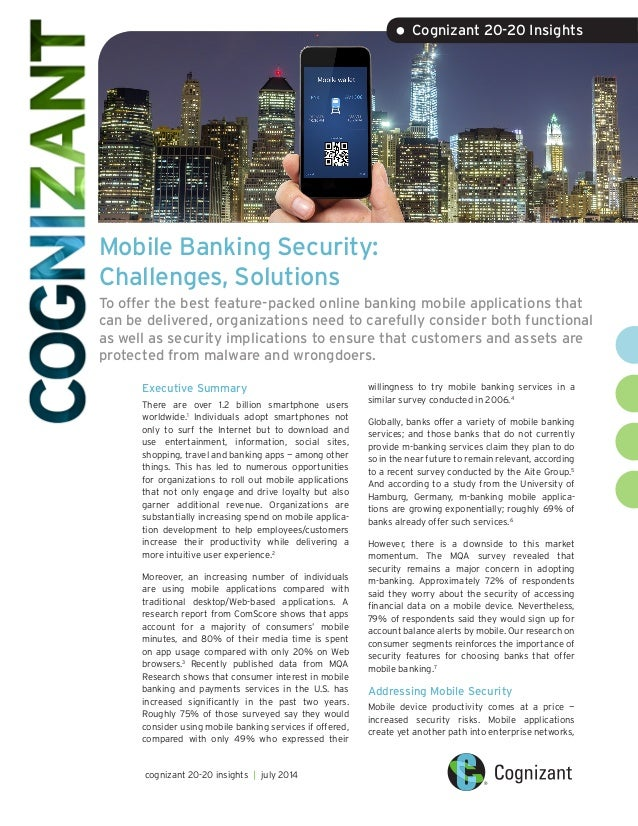 Mobile Banking Security: Challenges, Solutions
