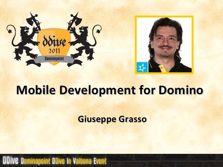 DDive11 - Mobile Development For Domino