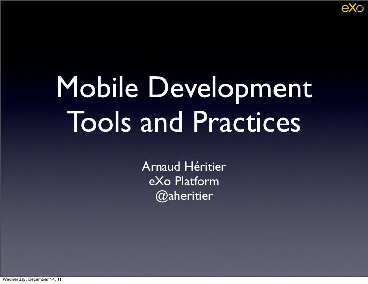 Mobile developments at eXo