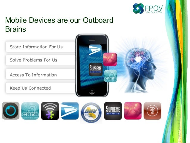 Mobile Devices are our OutboardBrainsStore Information For UsSolve Problems For UsAccess To InformationKeep Us Connected