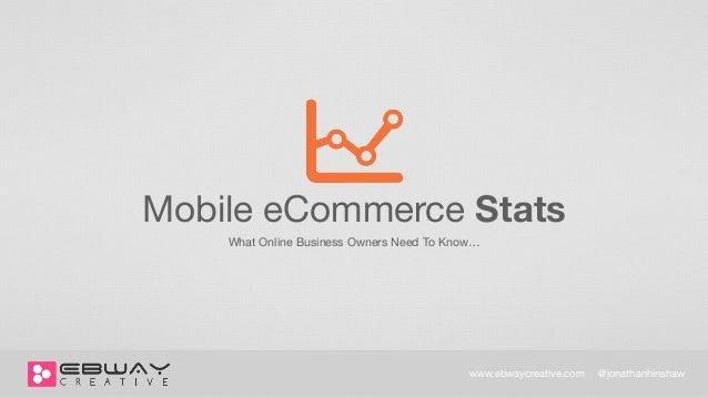 Mobile E-Commerce Stats | EBWAY Creative