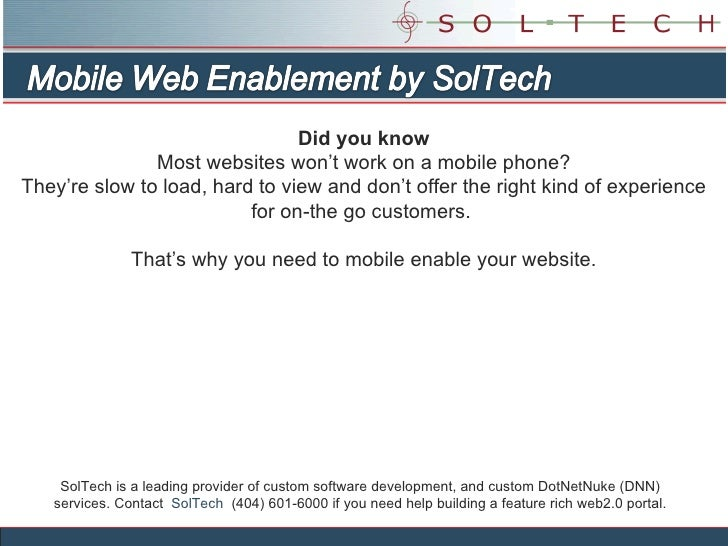 Mobile Enable Your Dnn Site
