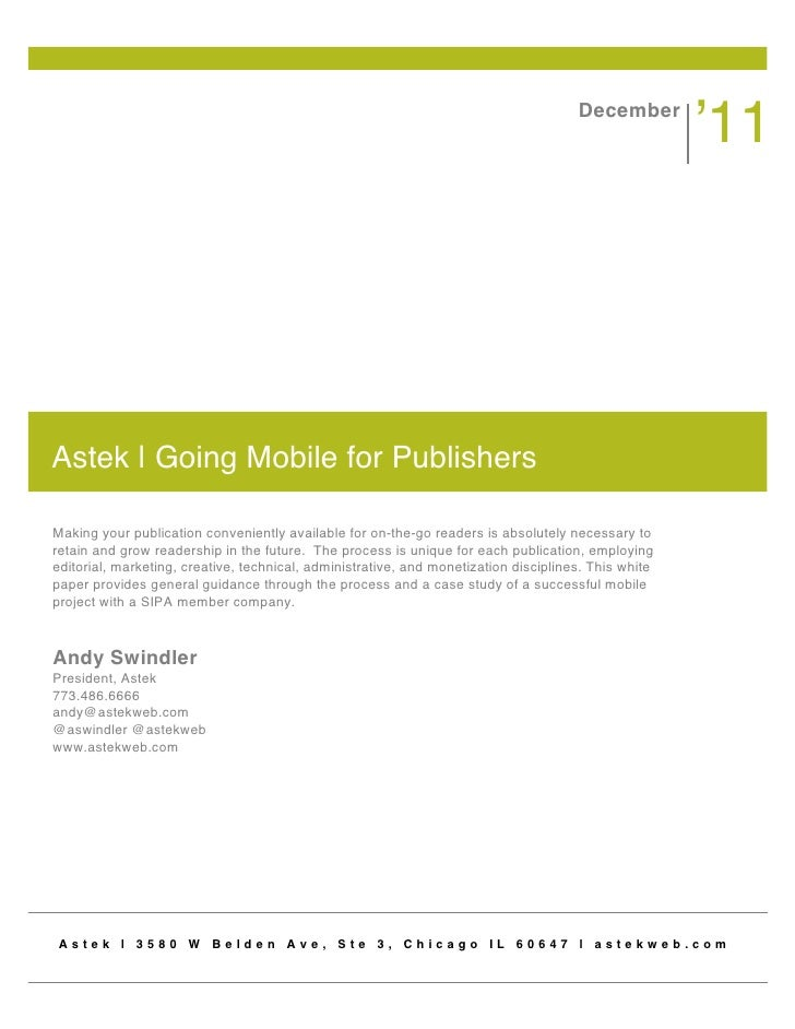 Mobile for Publishers