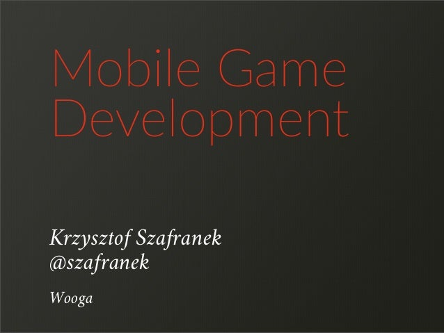 CodeFest 2014_Mobile Game Development