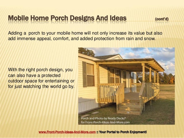 Porch design ideas for mobile homes - Front porch designs for mobile homes ...