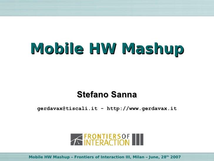 Mobile HW Mashup