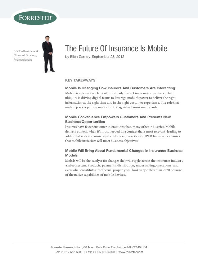 The Future of Insurance is Mobile