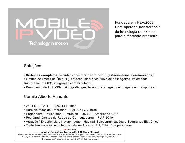 Mobile IP Video - Apresentacao 10 Minutos