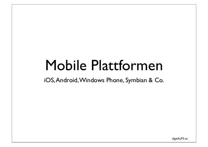 digitALPS - Mobile Plattformen