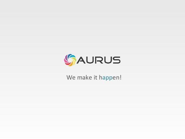 Aurus - Mobile Apps Portfolio 2013