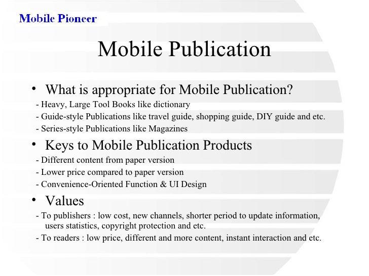 Mobile Publication