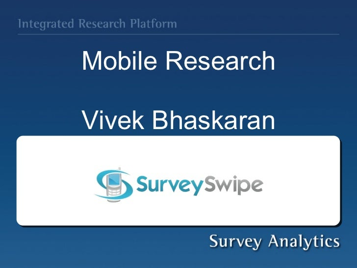 Mobile Research Webinar