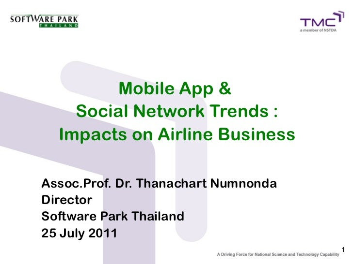 Mobile Apps & Social Network Trends : Impact on Airline Business