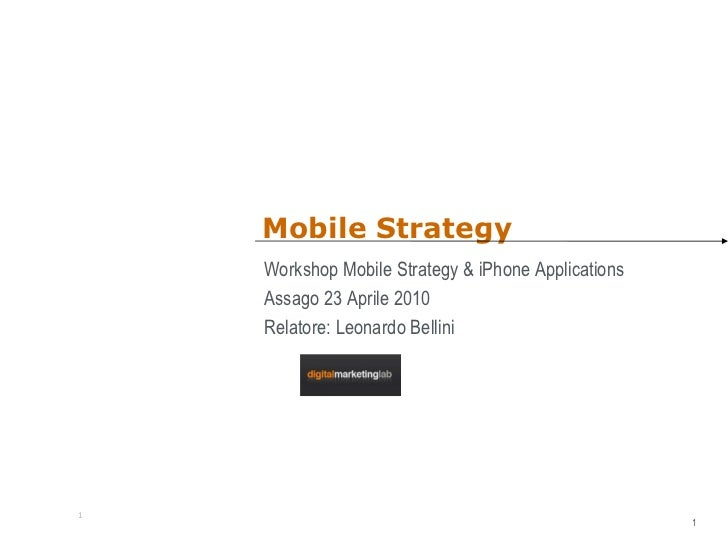 Mobile strategy-2010
