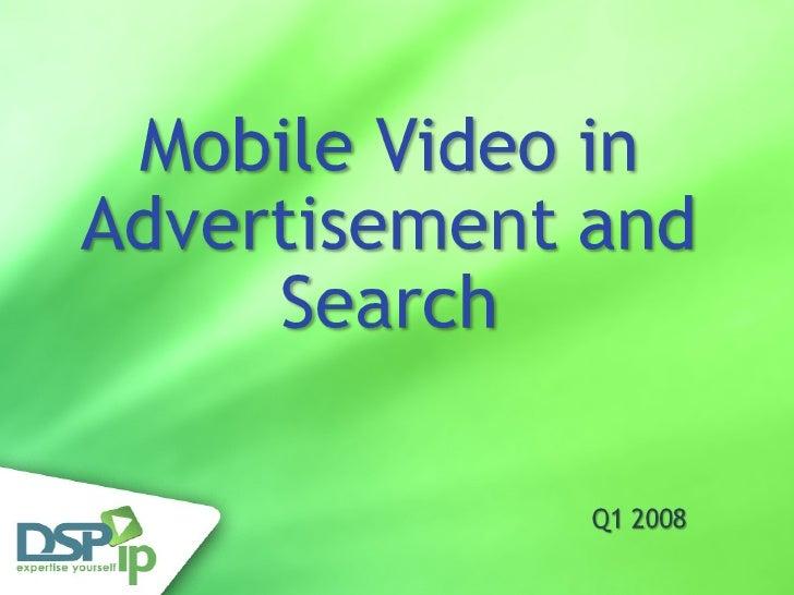Mobile Video Advertisement