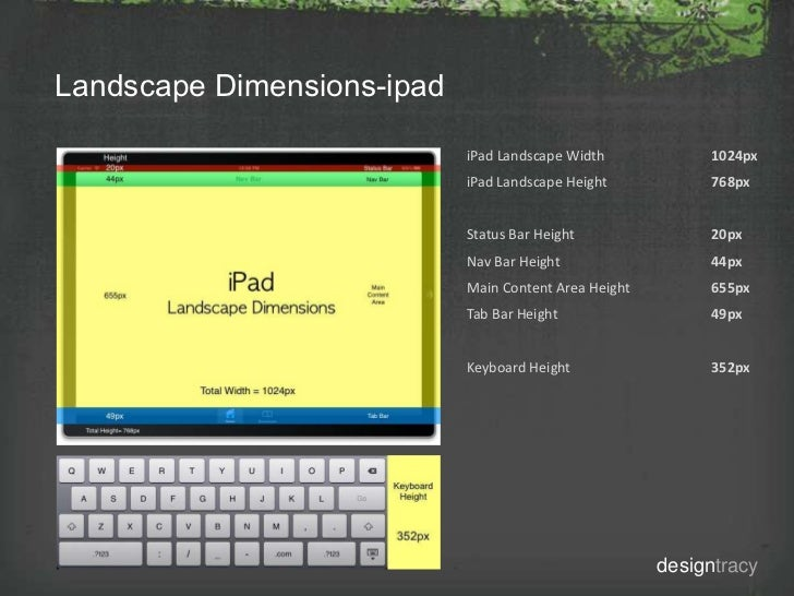 Ipad Design Dimensions Landscape Dimensions-ipad Ipad