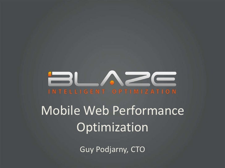 Mobile Web Performance Optimization Tips and Tricks