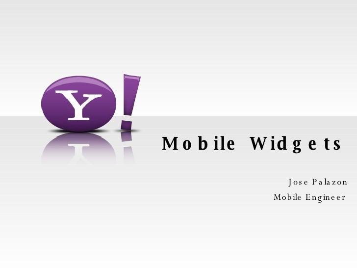 Yahoo Mobile Widgets